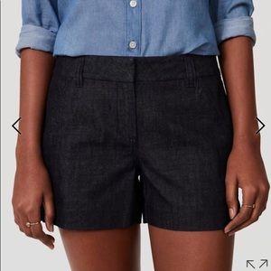 Loft denim shorts size 14